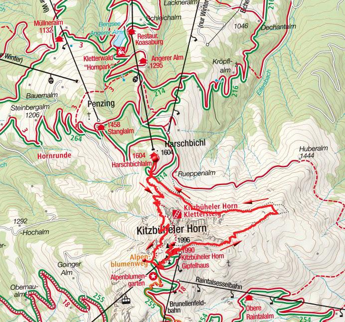 Horn Gipfel-Höhenweg vom Harschbichl