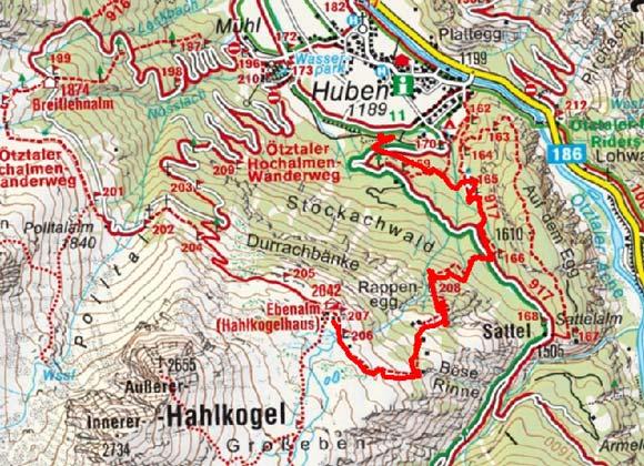 Hahlkogelhaus (2042 m) von Huben