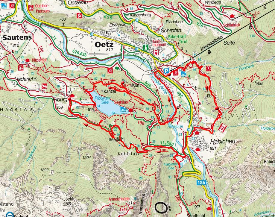 Plattformenwanderung bei Oetz und Piburg