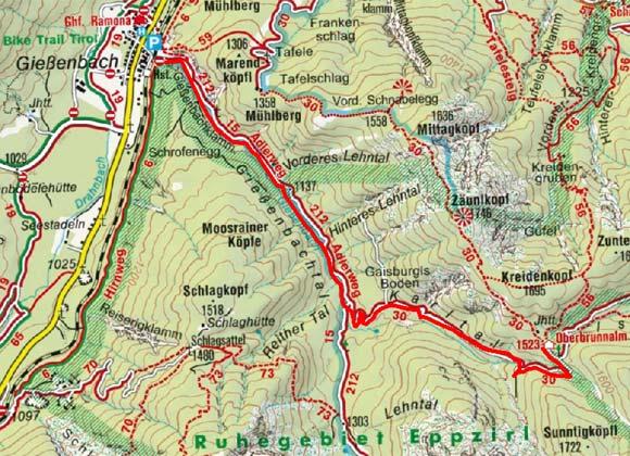 Oberbrunnalm, 1.523 m