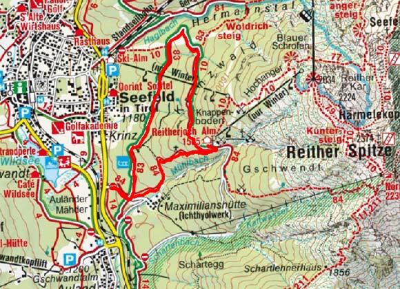 Reitherjoch Alm, 1.505 m