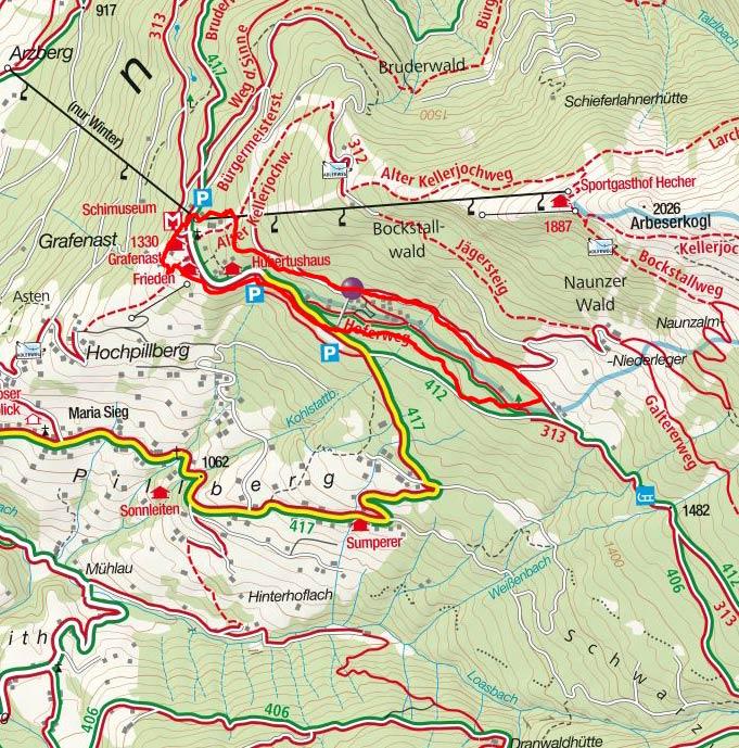"""""""Weg der Sinne"""" am Hochpillberg in Tirol"""
