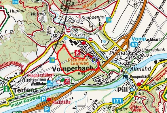 Planetenlehrpfad-Wanderung in Vomperbach