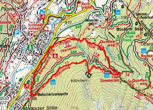Alpengasthof Sonnenstein von der Medrazer Stille