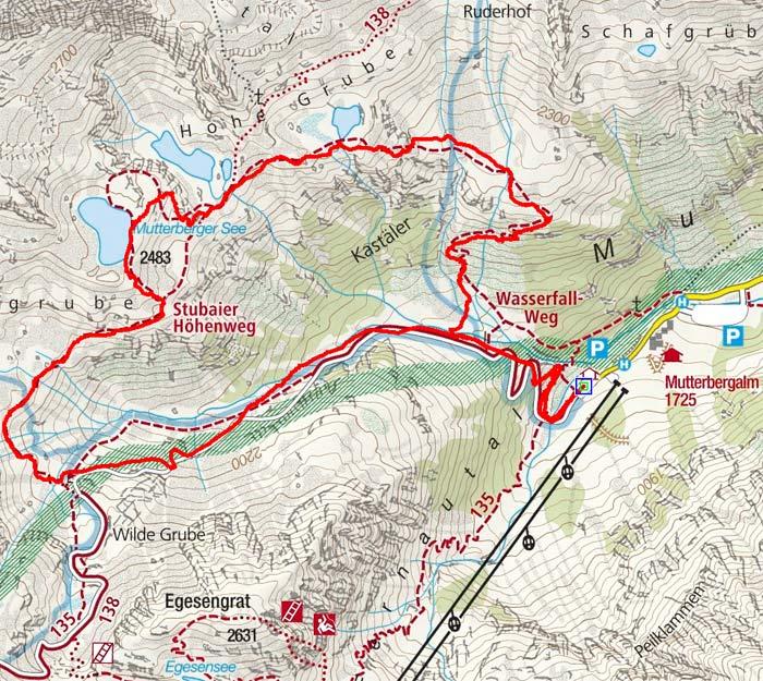 Mutterberger See (2483 m) von der Mutterbergalm