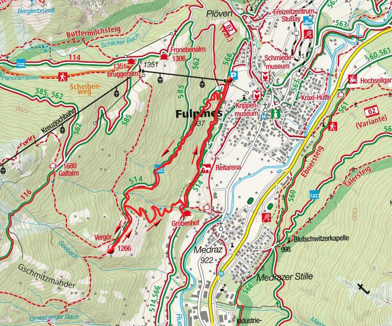 Berggasthof Vergör – Gasthof Gröbenhof Rundwanderung