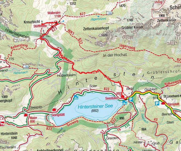 Vom Hintersteiner See auf die Walleralm