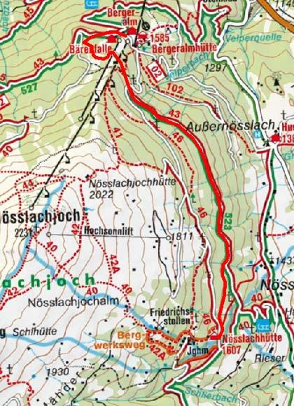 Nösslachhütte von der Bergeralm