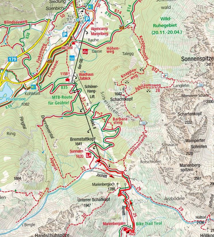 Marienbergalm von Biberwier über das Marienbergjoch