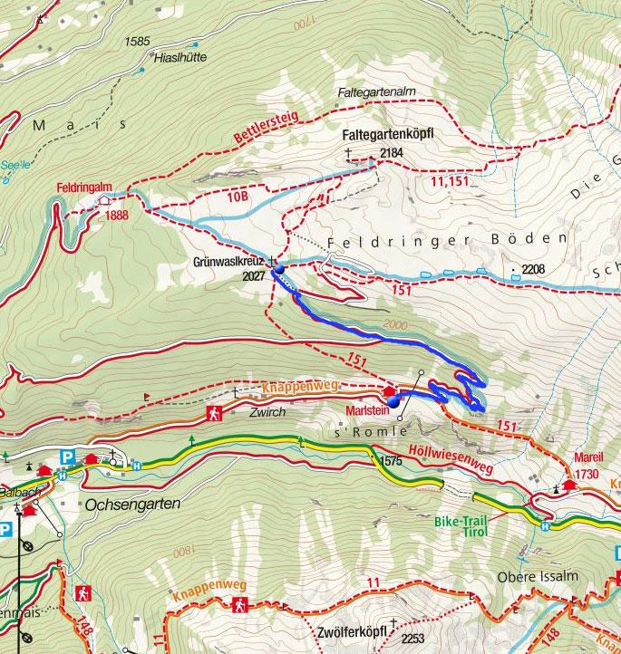 Grünwaslkreuz (2027m) von Marlstein - Winterwanderung