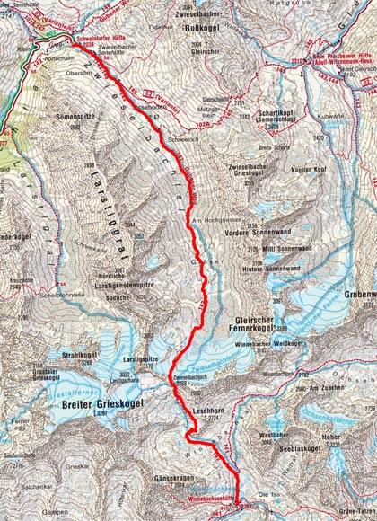 Sellrainer Hufeisentour (6 Etappen) - Tag 5