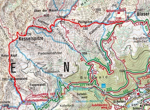 Gschnitztaler Rundtour: Padasterjochhaus - Blaser Hütte