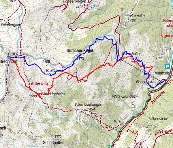Brechhorn (2032 m) von Aschau