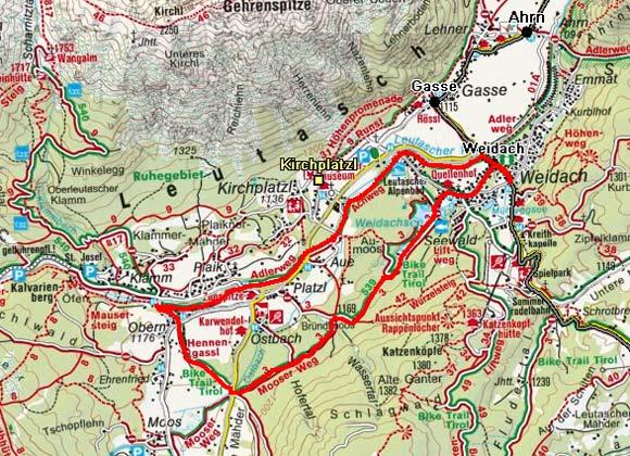 Achenweg - Mooserweg - Seepromenaden Runde