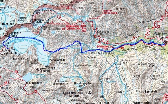 Aglsspitze (3194 m) vom Weiler Stein