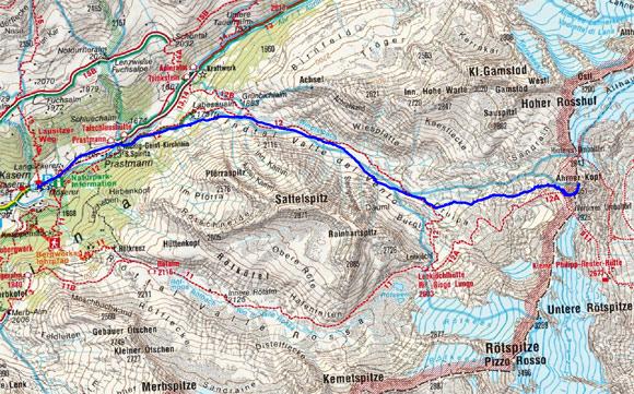 Ahrner Kopf (3051 m) von Kasern