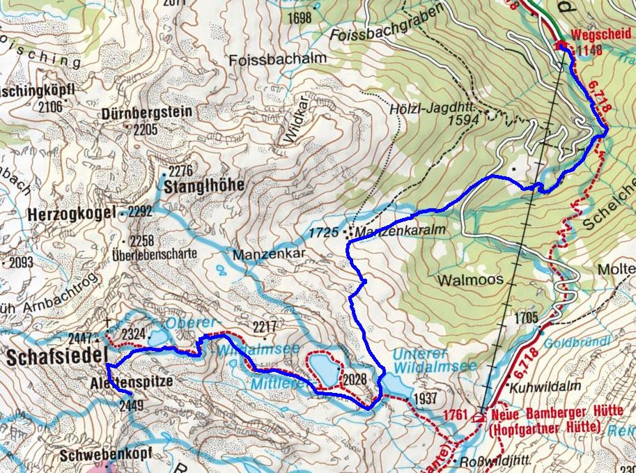 Aleitenspitze (2449 m) über die Manzenkaralm