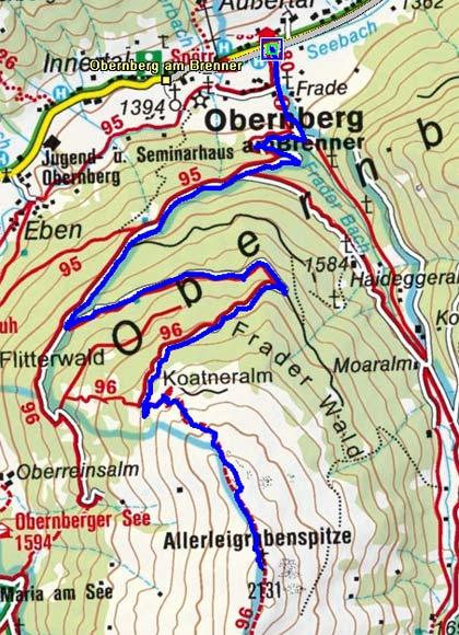 Allerleigrubenspitze (2131 m) von Obernberg