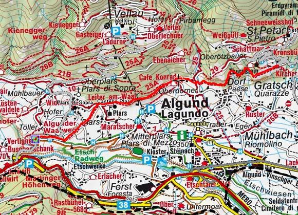 Algunder Waalweg von Töll