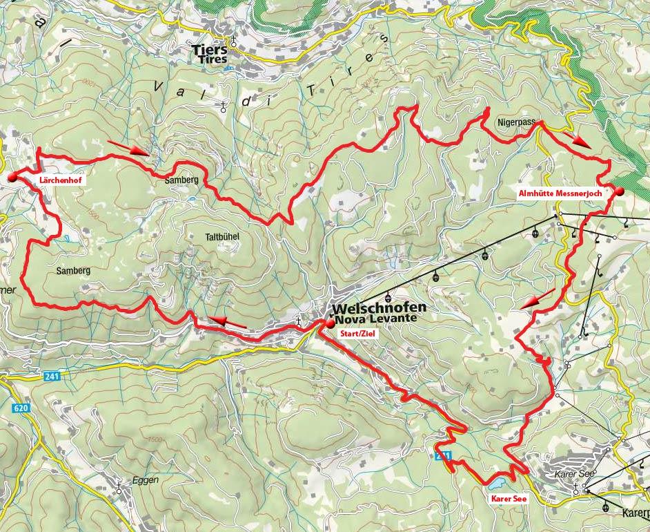 Rosengarten Rundfahrt von Welschnofen