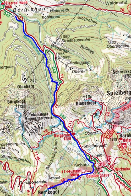 Bernkogel - Amsel  (1740 m) vom Gasthof Eiserne Hand