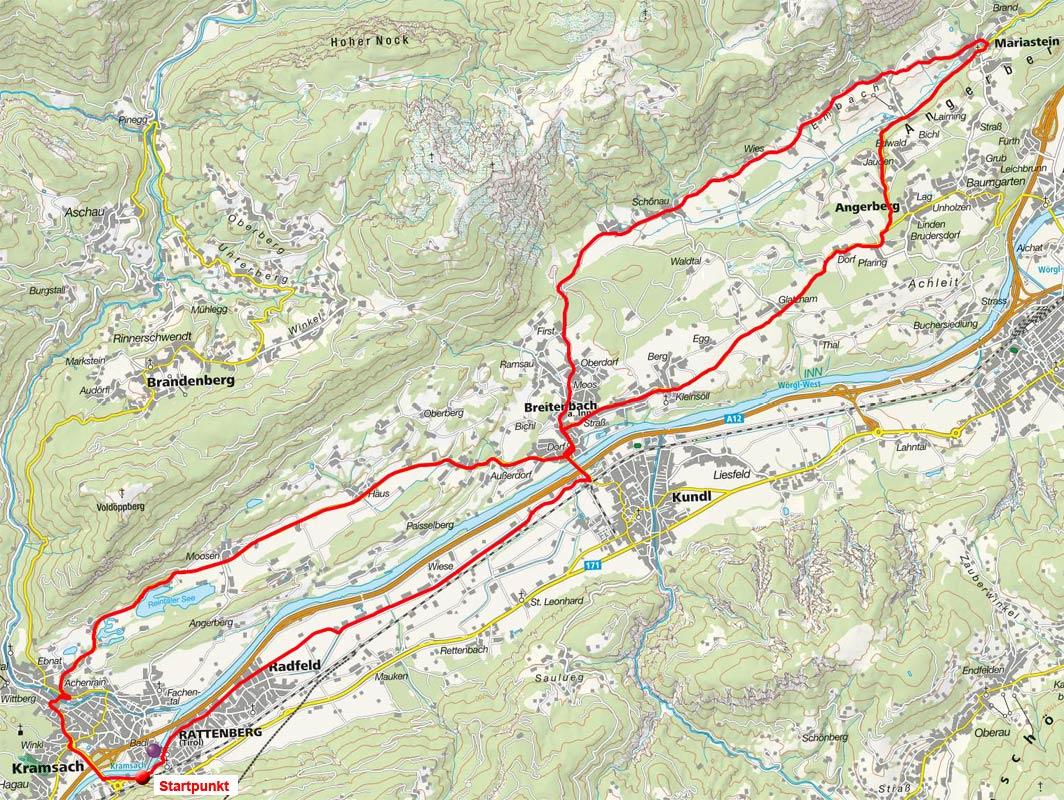 Angerberg-Reintaler See Rundfahrt von Rattenberg