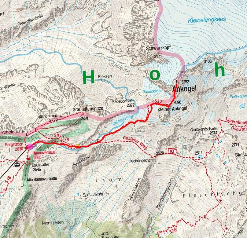 Ankogel (3252 m) von der Ankogelbahn