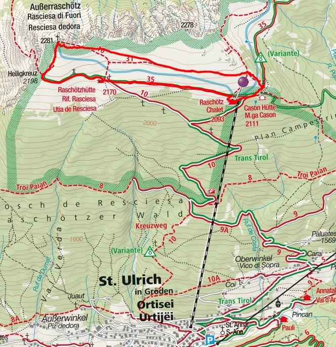 Ausserraschötz (2281 m) vom Berghaus Raschötz