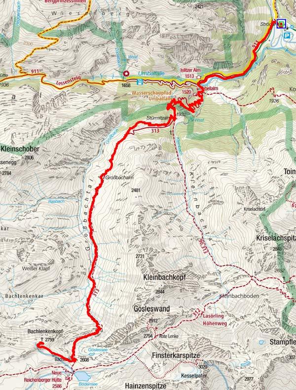 Bachlenkenkopf (2759 m) von Ströden