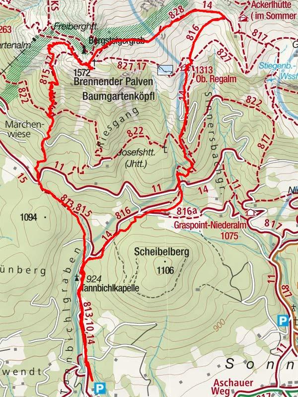 Baumgartenköpfl & Bergsteigergrab von Going