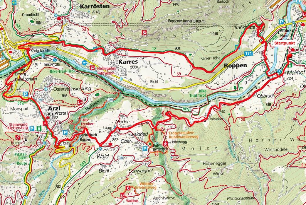Arzl - Karres Rundfahrt von Roppen