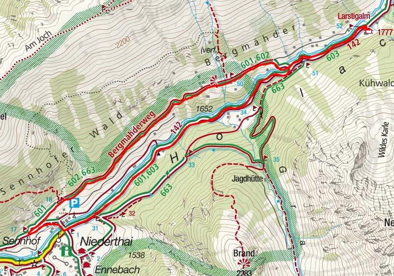Bergmahderweg - Rundwanderung in Niederthai