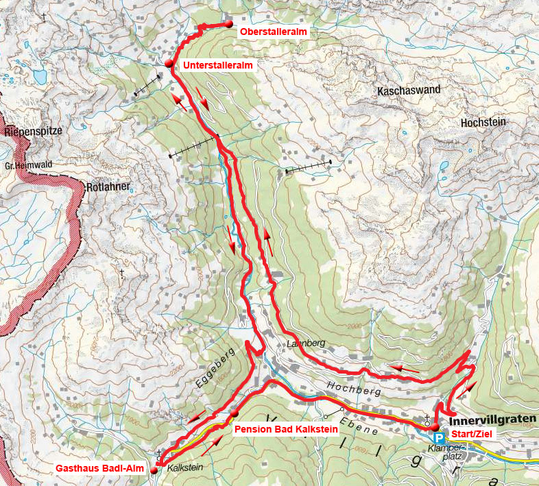 Berg-Radl-Weg Innervillgraten