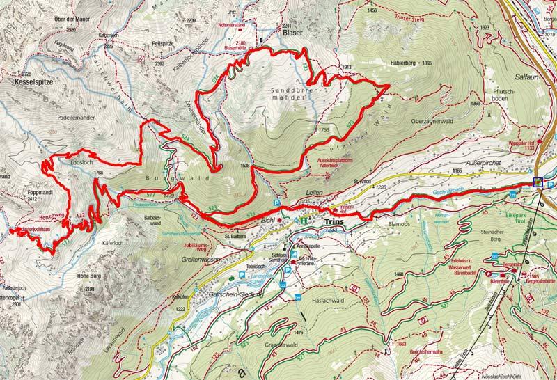 Blaserhütte – Padasterjochhaus Rundtour von Steinach