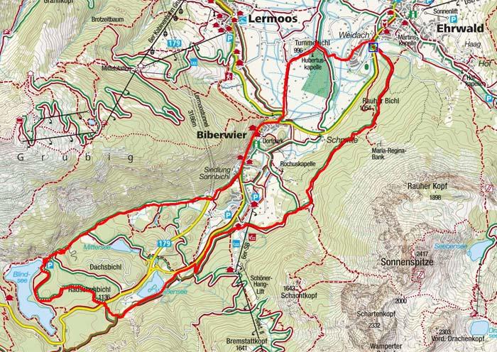 Von Ehrwald zum Blindsee - Seenrunde