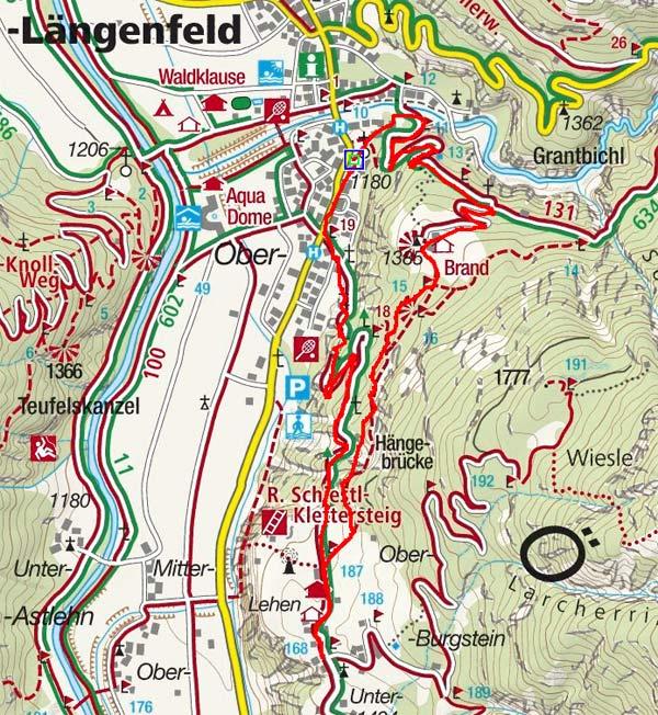 Rundwanderung Brand - Burgstein - Längenfeld