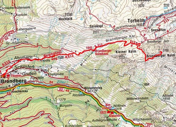 Brandberger Kolm (2700 m) von Brandberg
