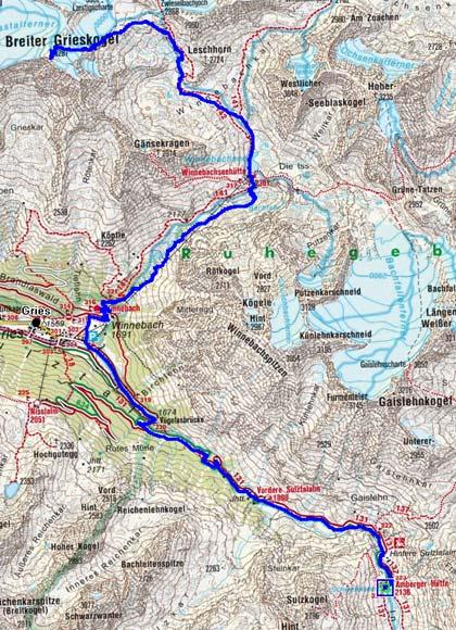 3 Tag: Ambergerhütte-Breiter Grieskogel-Winnebachseehütte