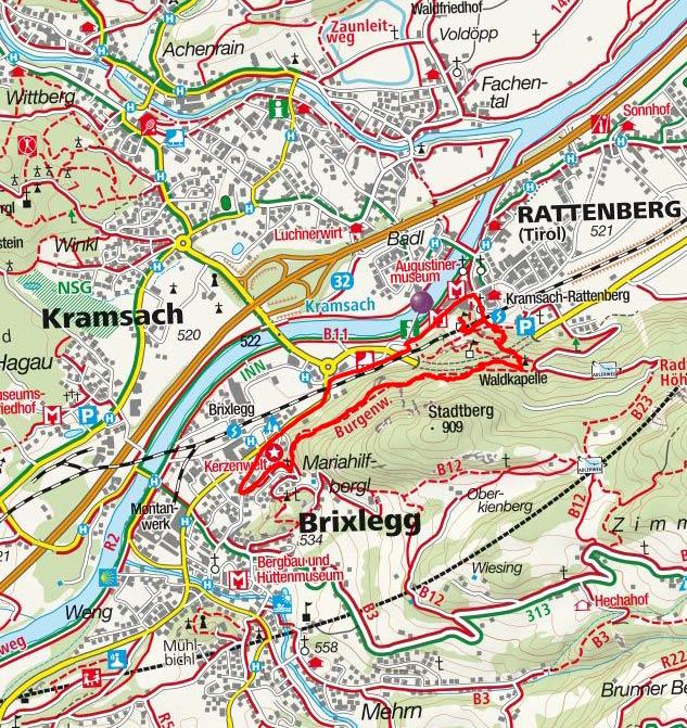Burgenweg Brixlegg - Rattenberg