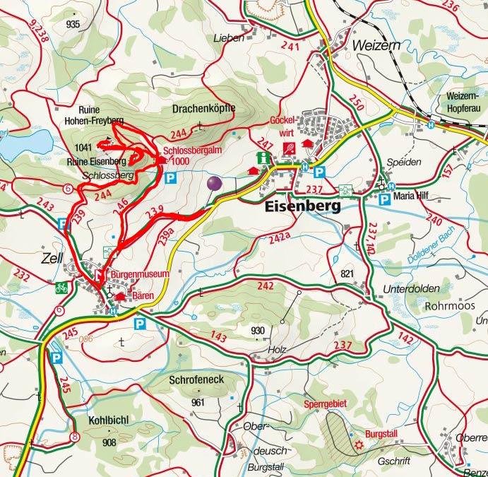Burgenrundwanderung Eisenberg-Hohenfreyberg