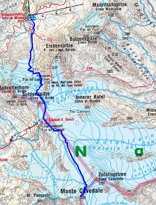Monte Cevedale (3769 m) von Sulden
