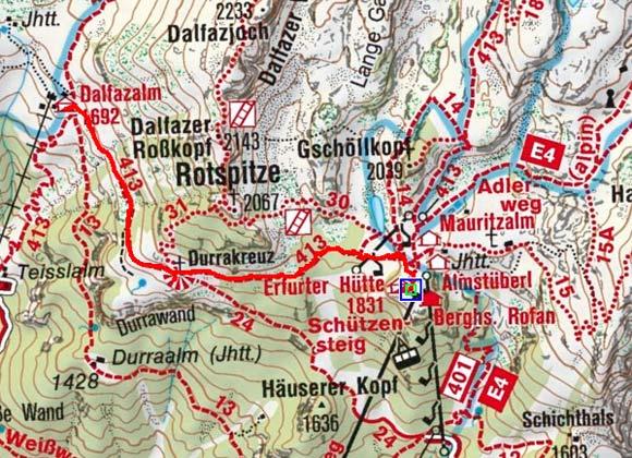Dalfazalm von der Erfurter Hütte