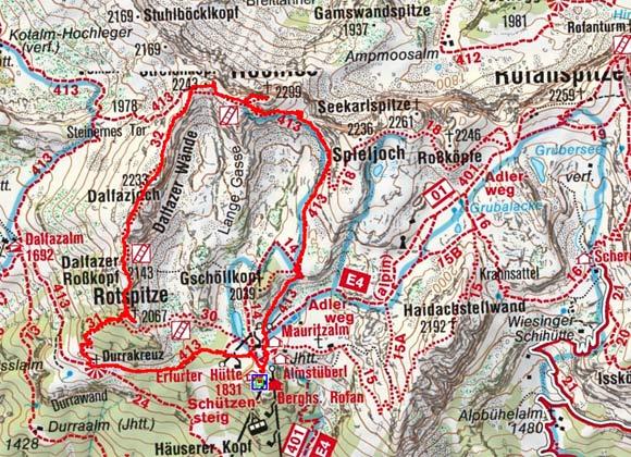 Dalfazkamm-Überschreitung mit Hochiss (2299 m)