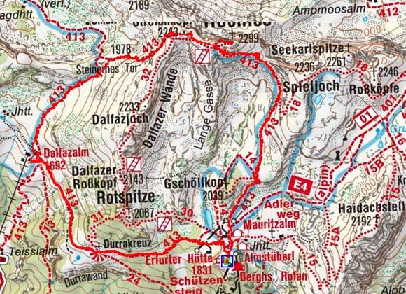 Dalfazerwände-Umrundung von der Erfurter Hütte