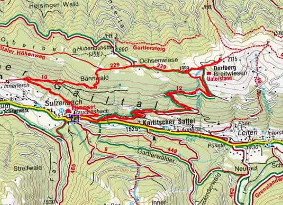 Dorfberg (2115 m) von Rauchenbach/Klammerwirt