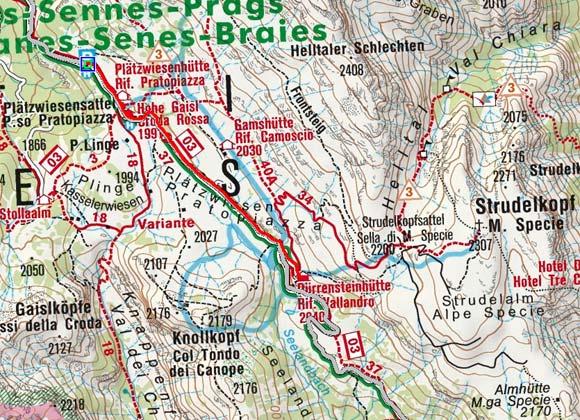 Dürrensteinhütte (2040 m) von der Plätzwiesenhütte