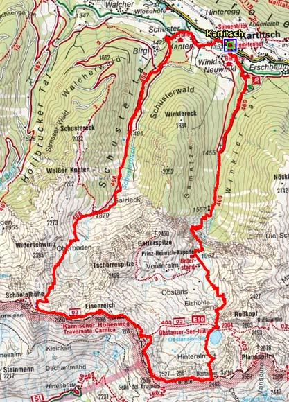 Eisenreich-Überschreitung (2665 m) aus dem Winklertal