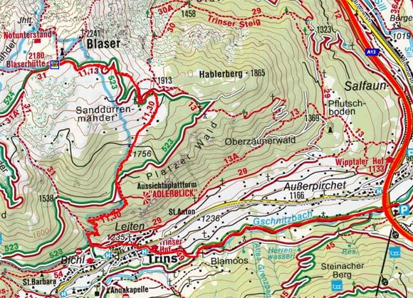 Gschnitztaler Rundtour: Blaserhütte - Trins