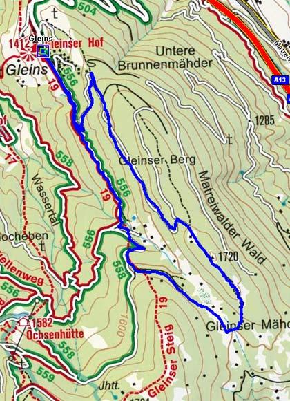 Gleins - Eulenwiesen (Rundtour)