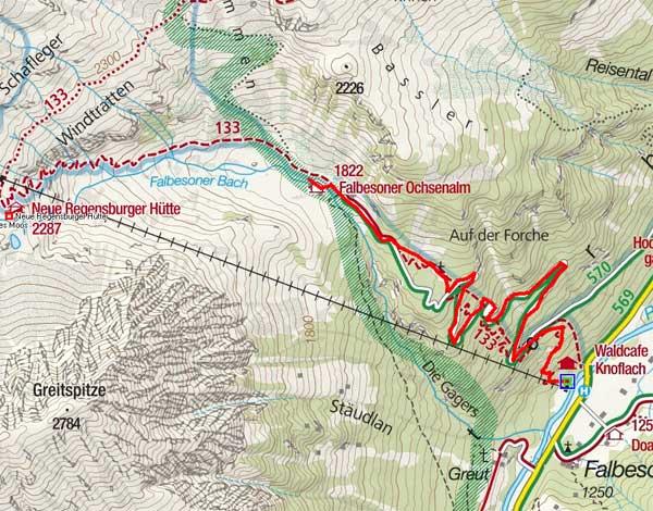 Falbesoner Ochsenalm (1822 m) von Falbeson